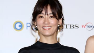 ドラマ「tourist ツーリスト」の完成披露試写会に登場した水川あさみさん