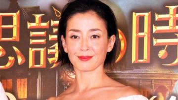 映画「ルイスと不思議の時計」の日本語吹き替え版完成会見に出席した宮沢りえさん