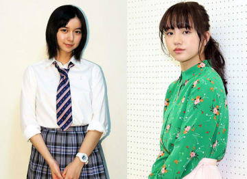 「透明なゆりかご」で主演を務めた清原果耶さん(右)と「義母と娘のブルース」で高校生になったみゆきを演じた上白石萌歌さん