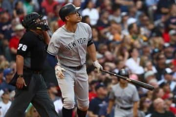 38号本塁打を放ったヤンキースのジャンカルロ・スタントン【写真:Getty Images】