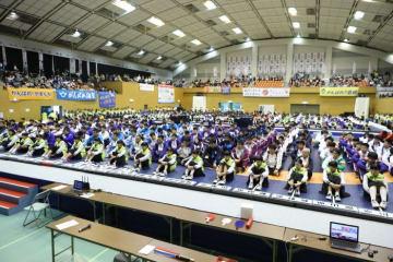 台風24号に見舞われながら、開会式に集った全国の精鋭選手
