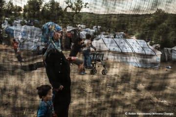 ギリシャ・レスボス島のモリア難民キャンプ
