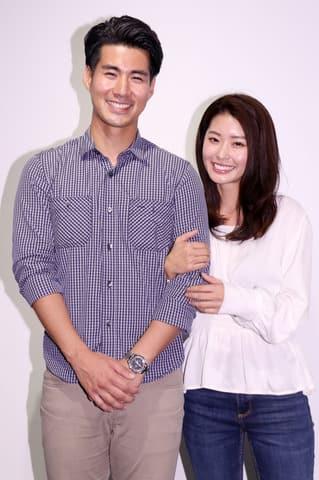 イベント「woman's health museum」のトークショーに登場した玉城大志さん(左)と福山智可子さん