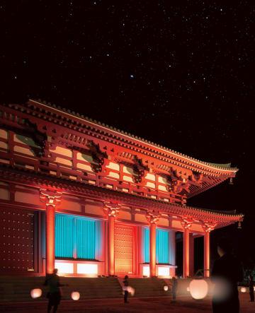 興福寺中金堂のライトアップのイメージ