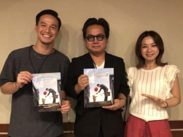 松崎健夫さん(中央)、ケリー隆介(左)、アンジー・リー