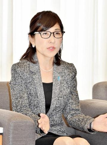 稲田朋美氏=2017年10月、福井新聞社