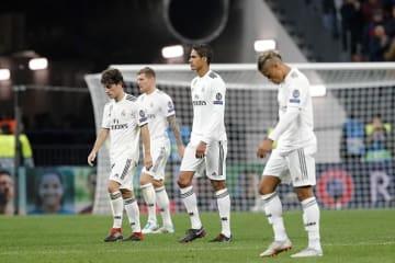 まさかの結果に、肩を落とすレアルの選手たち photo/Getty Images