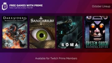 Twitch Prime10月度の無料配信は『System Shock』『SOMA』『Darksiders Warmastered Edition』など計4作!