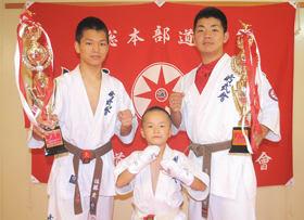 全道大会で活躍した(左から)佐藤、山崎、樋口
