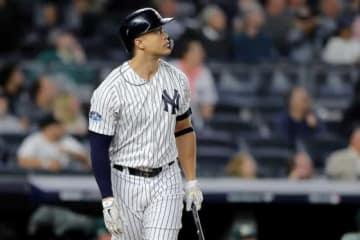 特大本塁打を放ったヤンキースのジャンカルロ・スタントン【写真:Getty Images】