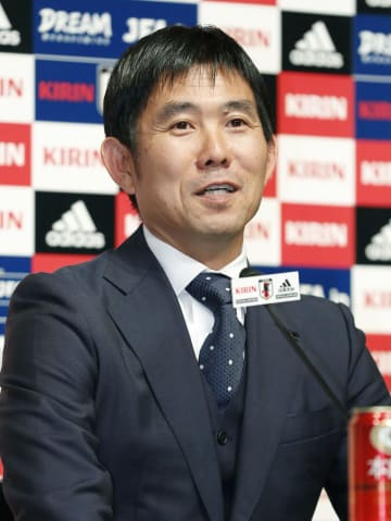 記者会見するサッカー日本代表の森保監督=4日午後、東京都文京区