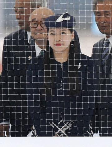 国体のホッケー競技会場に到着された高円宮家の三女絢子さま=4日午後、福井県越前町