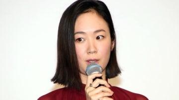 映画「散り椿」の初日舞台あいさつに登場した黒木華さん