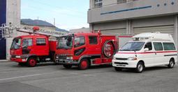 西はりま消防組合が初の一般競争入札で売却する救急車など3台=佐用消防署(同組合提供)