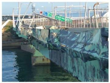 タンカーが衝突して壊れた関西国際空港連絡橋
