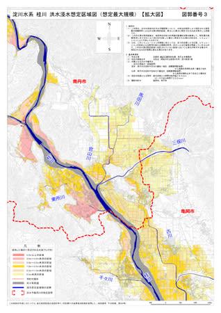 南丹市の浸水被害想定