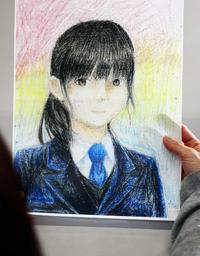 亡くなった女子生徒の自画像。「私によく似ている」と母親は語る=神戸市内