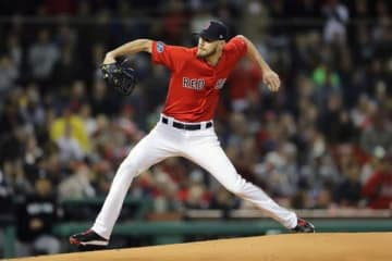 ヤンキース相手に快投したRソックスのクリス・セール【写真:Getty Images】