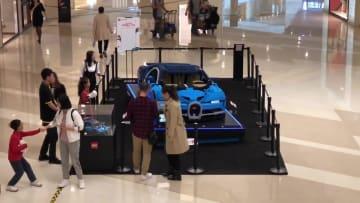 大型ブロック玩具のスーパーカーが瀋陽にお目見え