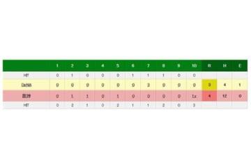 阪神対DeNAの試合結果