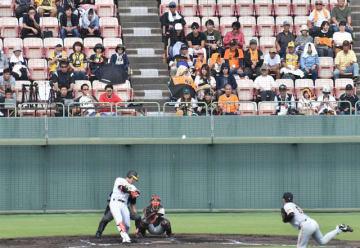 県内外のファンが選手たちに熱い声援を送ったプロ野球ファーム日本選手権=6日午後、宮崎市・KIRISHIMAサンマリンスタジアム宮崎