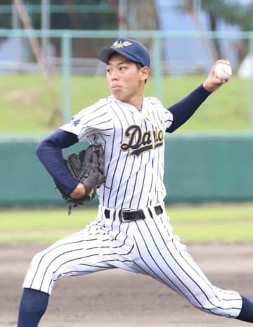 安定感のある投球でチームを引っ張る宮崎第一の川島