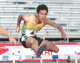 少年男子A400メートル障害決勝 52秒06で優勝した岩渕