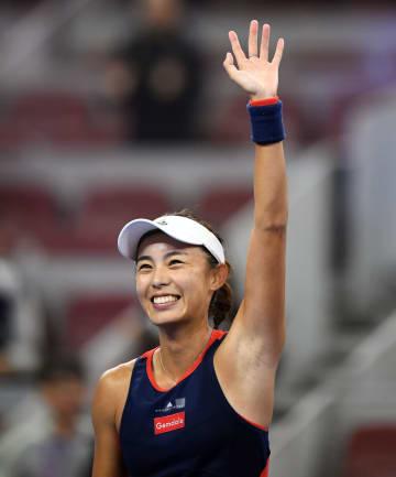 王薔、ベスト4進出 テニス中国オープン
