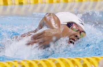 女子200メートル自由形(知的障害S14)決勝 優勝した北野安美紗=ジャカルタ(共同)