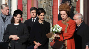 Olivia Colman shoots scenes from 'The Crown' season 3