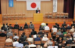 「美しい日本の憲法をつくる兵庫県民の会」が開いた会合=神戸市中央区下山手通4、県民会館