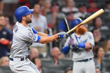 5回に2ラン本塁打を放ったドジャース・テイラー【写真:Getty Images】