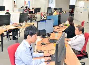 本県出身の技術者らがEPSシステムのソフトウエア開発に取り組むジェイテクトIT開発センター秋田