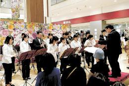 優雅な音色を奏でた東北福祉大吹奏楽部
