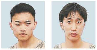 写真左が竹田(仙台城南高)、右が渡辺(仙台高)