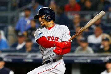 ヤンキースとの地区シリーズ第3戦で活躍を見せたレッドソックスのムーキー・ベッツ【写真:Getty Images】