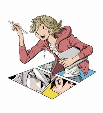 15日発売の「週刊少年ジャンプ」46号でスタートする高橋和希さんの「THE COMIQ」の告知カット (C)高橋和希 スタジオ・ダイス/集英社