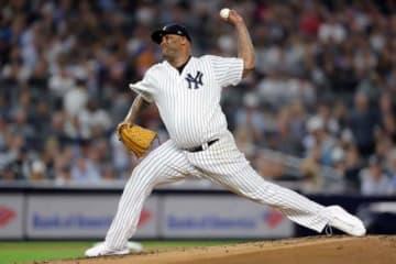 ヤンキース先発のCC・サバシア【写真:Getty Images】