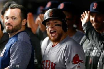 地区S第4戦の本塁打で勝利に貢献したRソックスのクリスチャン・バスケス【写真:Getty Images】