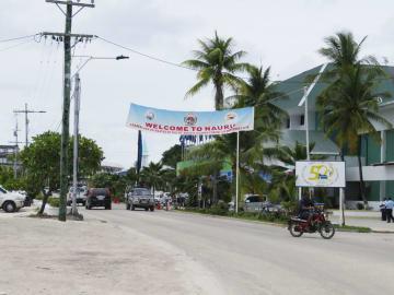 南太平洋の島国ナウルの中心部=9月(共同)