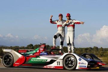 アウディ、新しいフォーミュラEマシン Audi e-tron FE05を発表