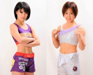 初の一本負けを喫した川村(左)が、打撃格闘技のプロキャリアでは優る宗田(右)と対戦
