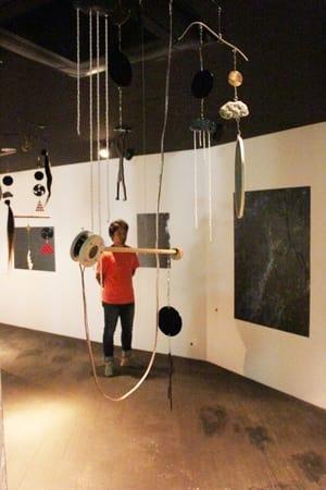 佐渡金銀山や鬼太鼓、百足杉をテーマにリニューアルされた展示室=佐渡市真野