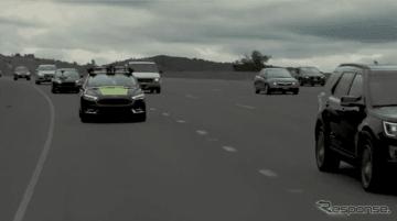 高速道路で完全自動運転のプロトタイプ車、エヌビディア「BB8」が80kmのテスト走行に成功