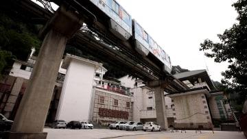 中国と日本の友情の証し、重慶モノレール