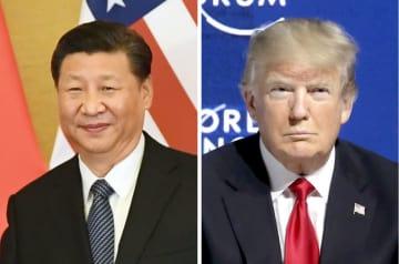 中国の習近平国家主席、トランプ米大統領(AP=共同)