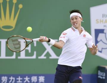 Nishikori at Shanghai Masters