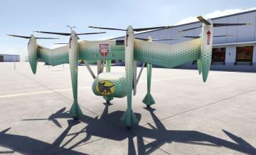 ヤマトホールディングスとベル・ヘリコプターが開発する無人輸送機のイメージ