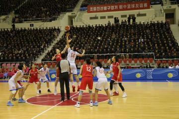 中朝、平壌で女子バスケットボール親善試合