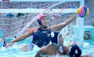 母校の宮崎工高プールで練習に励む水球女子U-19日本代表の野田茉波